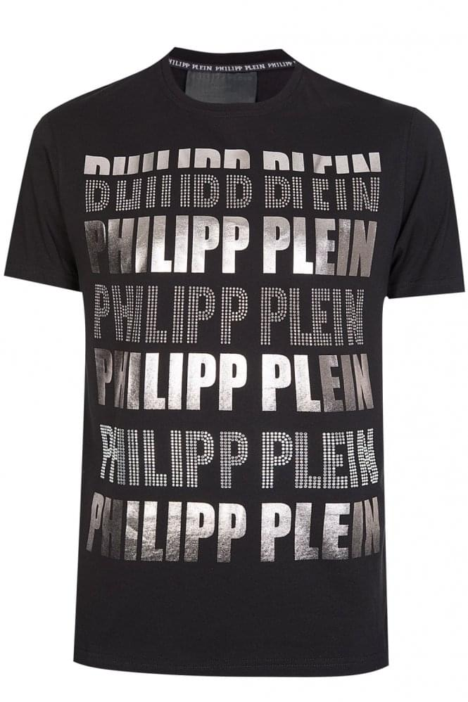 PHILIPP PLEIN 'Sadako' T-Shirt Black