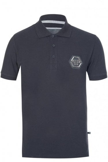 Philipp Plein 'Secret' Polo Black