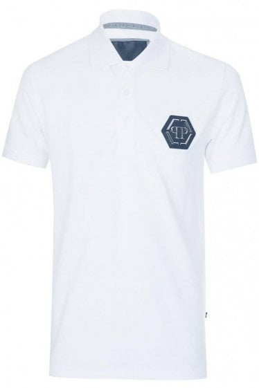 Philipp Plein 'Secret' Polo White