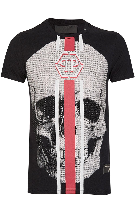 8e8b0357f3 Philipp Plein 'Shake-S' Diamante Skull T-Shirt Black