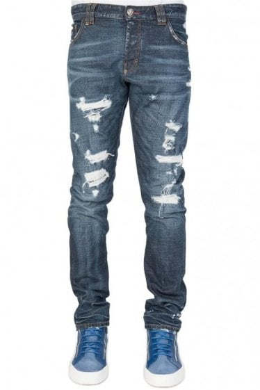 Philipp Plein 'So Lucky' Super Straight Cut Jeans
