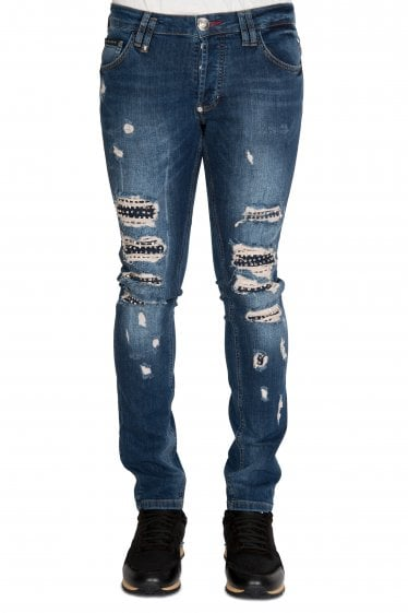 Philipp Plein 'So Much I' Distressed Jeans
