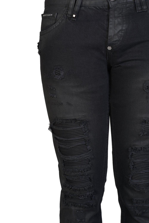 eda77ac77c PHILIPP PLEIN Philipp Plein Straight Cut Animal Bar Jeans