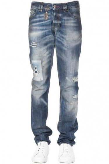 Philipp Plein Straight Cut Deep Jeans