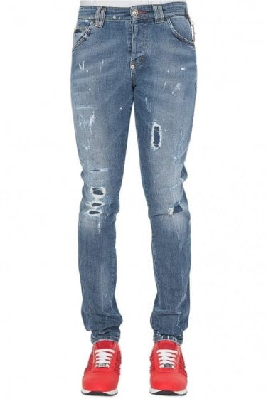 Philipp Plein Super straight Cut Positan Jeans