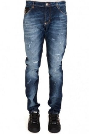 Philipp Plein Super Straight 'Theater' Jeans Blue