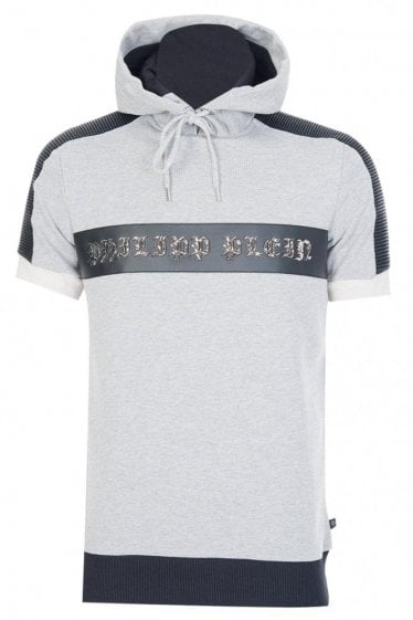 Philipp Plein Superiority Hooded Sweatshirt Grey