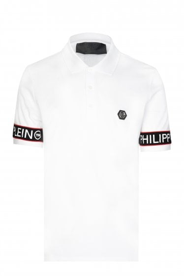 85937a68a45 Philipp Plein Tape Logo Polo Shirt