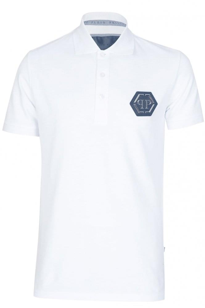 PHILIPP PLEIN 'Tatami' Polo White