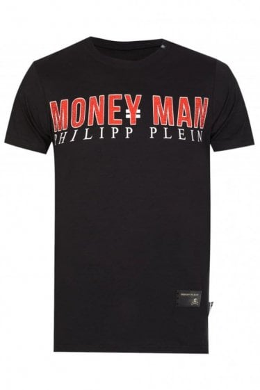 Phillip Plein Money Man T Shirt Black