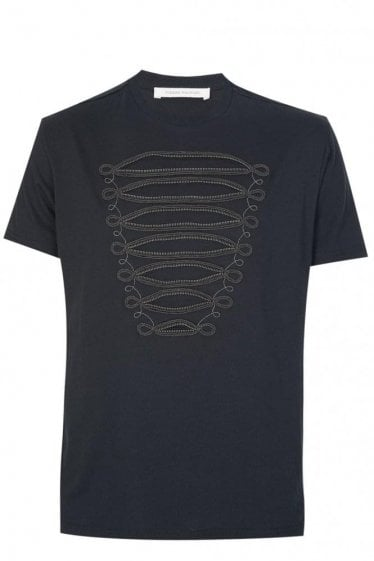 Pierre Balmain Zip Detail T-shirt Black
