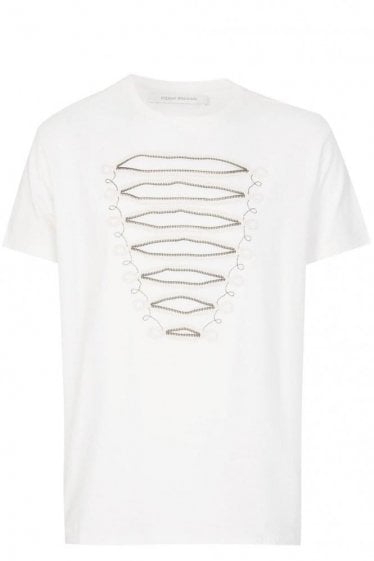 Pierre Balmain Zip Detail T-shirt White