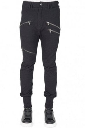 Pierre Balmain Zip Pockets Tapered Joggers Black