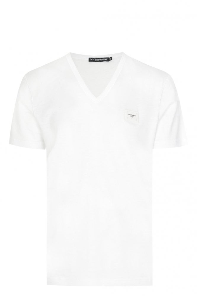 Short Sleeve PLAQUE V NECK T SHIRT