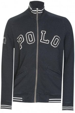 Polo Ralph Lauren Appliqué Zip Sweatshirt Black