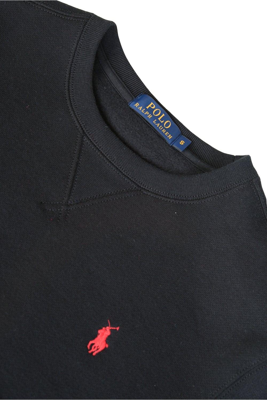 gå online 100% hög kvalitet bra service Polo Ralph Lauren Athletic Fleece Sweatshirt Black