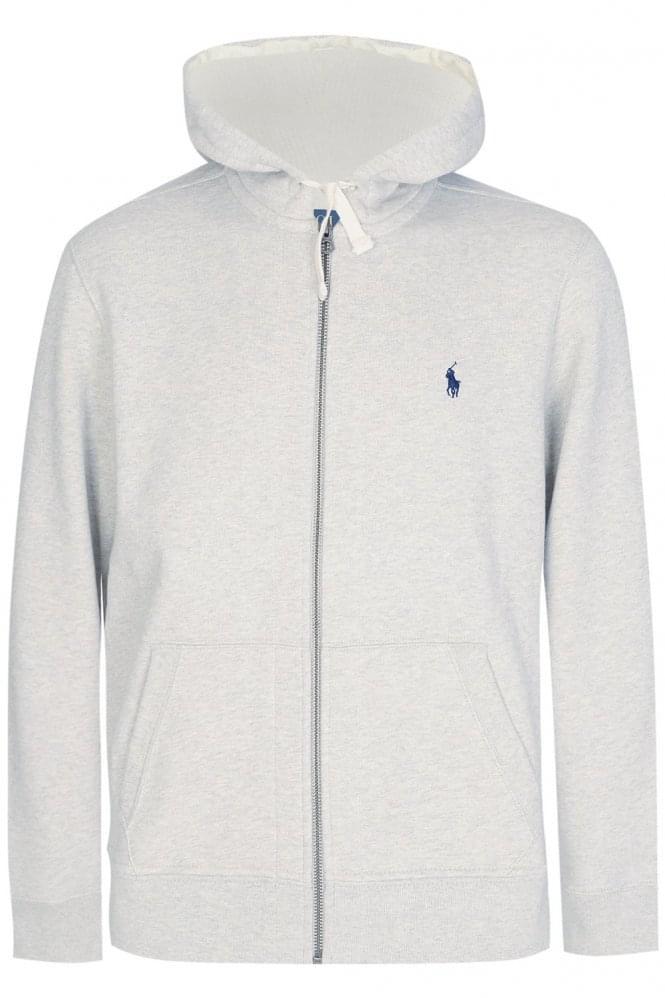 Polo Ralph Lauren Classic Zip Hoodie Light Grey
