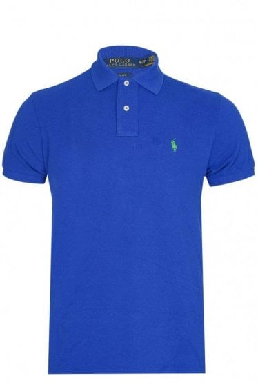 Polo Ralph Lauren Custom-Fit Mesh Polo Blue