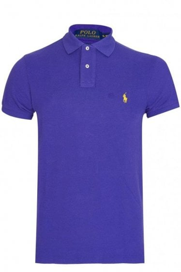 Polo Ralph Lauren Custom-Fit Mesh Polo Purple