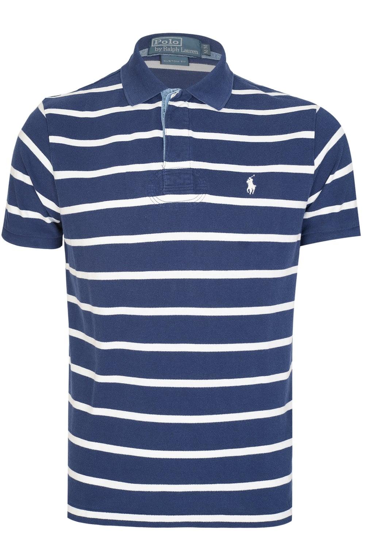 Polo Ralph Lauren Custom Fit Striped Polo Navy 0e582c5f2