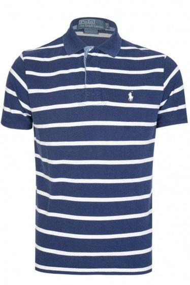 Polo Ralph Lauren Custom Fit Striped Polo Navy