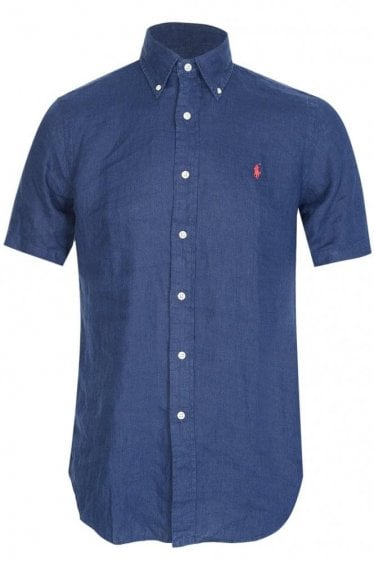 Polo Ralph Lauren Linen Shirt Navy