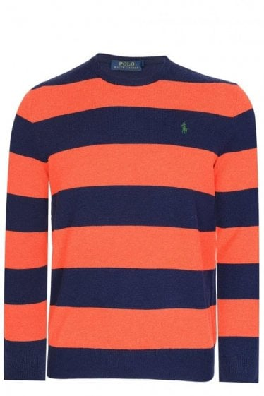 Polo Ralph Lauren Loryelle Striped Knitted Jumper Navy