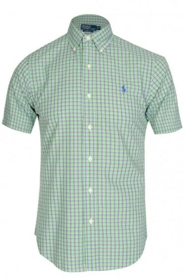 Polo Ralph Lauren Slim Fit Checkered Poplin Shirt Green