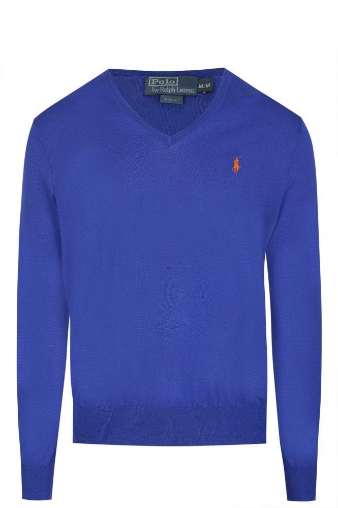 Polo Ralph Lauren Slim Fit Cotton Jumper Blue