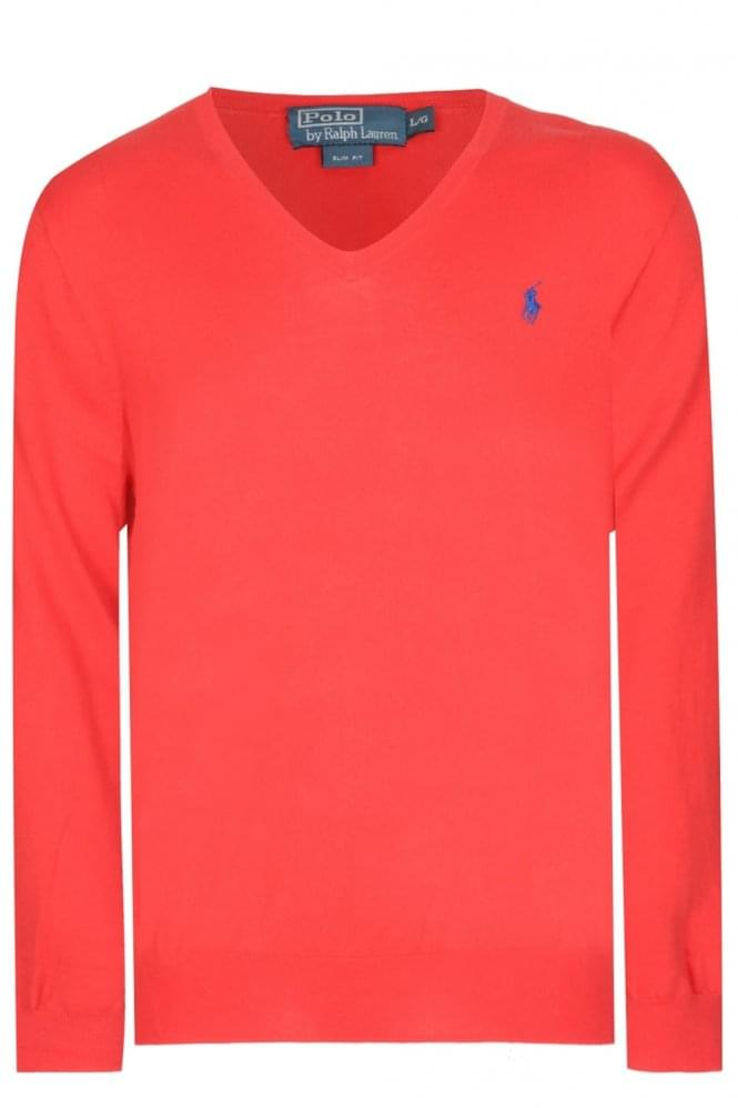 Polo Ralph Lauren Slim Fit Cotton Jumper Red