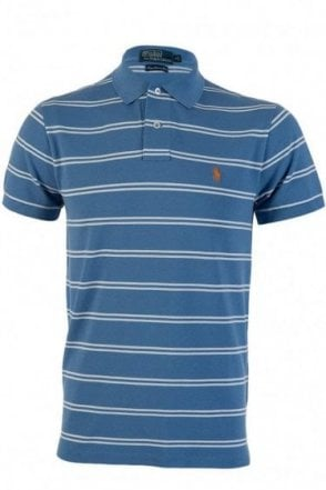Polo Ralph Lauren Slim Fit Mesh Polo Sky Blue