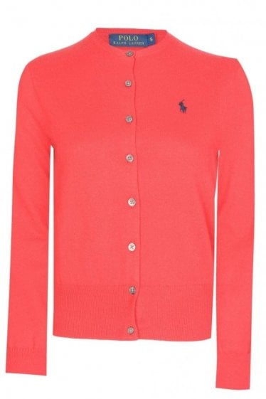 Polo Ralph Lauren Women's Fine Cotton Cardigan Red