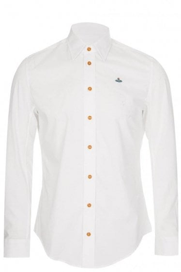 Vivienne Westwood One Button Shirt White
