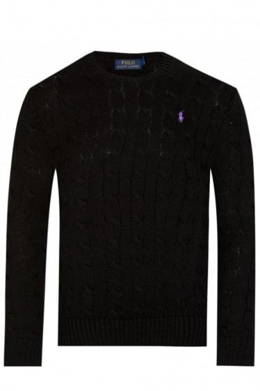Ralph Lauren Cable Crew Neck Black