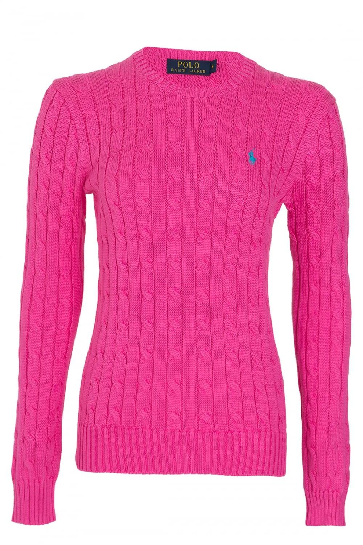 97d91621c582f RALPH LAUREN Ralph Lauren Polo Julianna Womens Cable Knit Crew Neck Jumper  Pink - Clothing from Circle Fashion UK