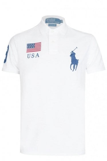 Ralph Lauren USA Custom-Fit Mesh Polo