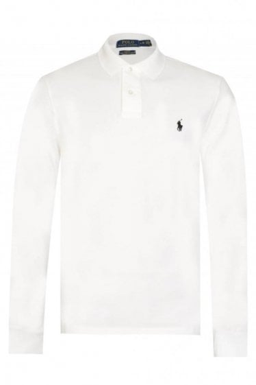 Ralph Lauren White Custom Fit Polo Shirt