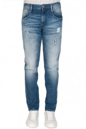 Replay 5 Pocket Stretch Slim Fit Jeans Blue