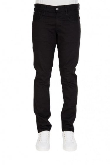 Replay Anbass 5 Pocket Slim Fit Stretch Denim Jeans Black