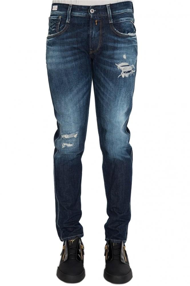 Replay Jeans ANBASS BACK ZIP DR6vJc