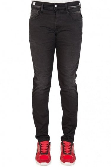 Replay Hyperflex Anbass Denim Jeans Black