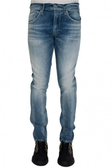 Replay Jondrill 5 Pocket Vintage Skinny Denim Jeans Blue