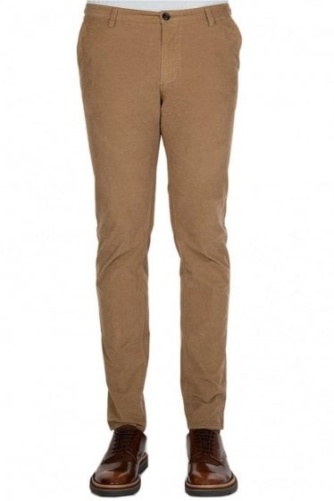 Hugo Boss Corduroy Tapered Trousers Stone