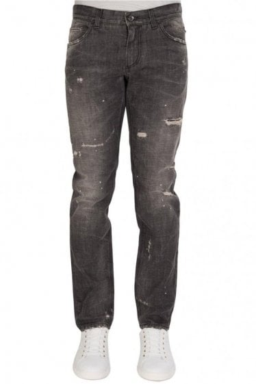 Ripped & Repaired Jeans Blue