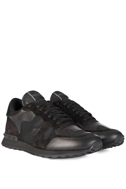Valentino From Black Sneaker Camo Rockstud Circle Clothing Triple qOqrzC