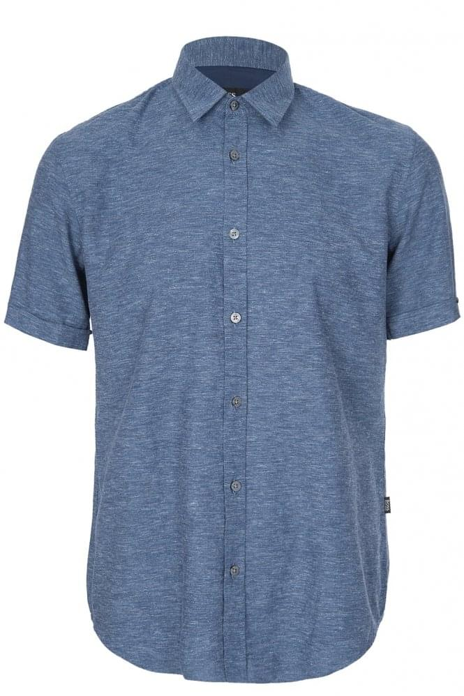 Ron5 Short Sleeved Shirt Navy