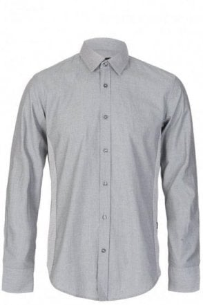 Hugo Boss 'Ronny' Grey Contrast Shirt