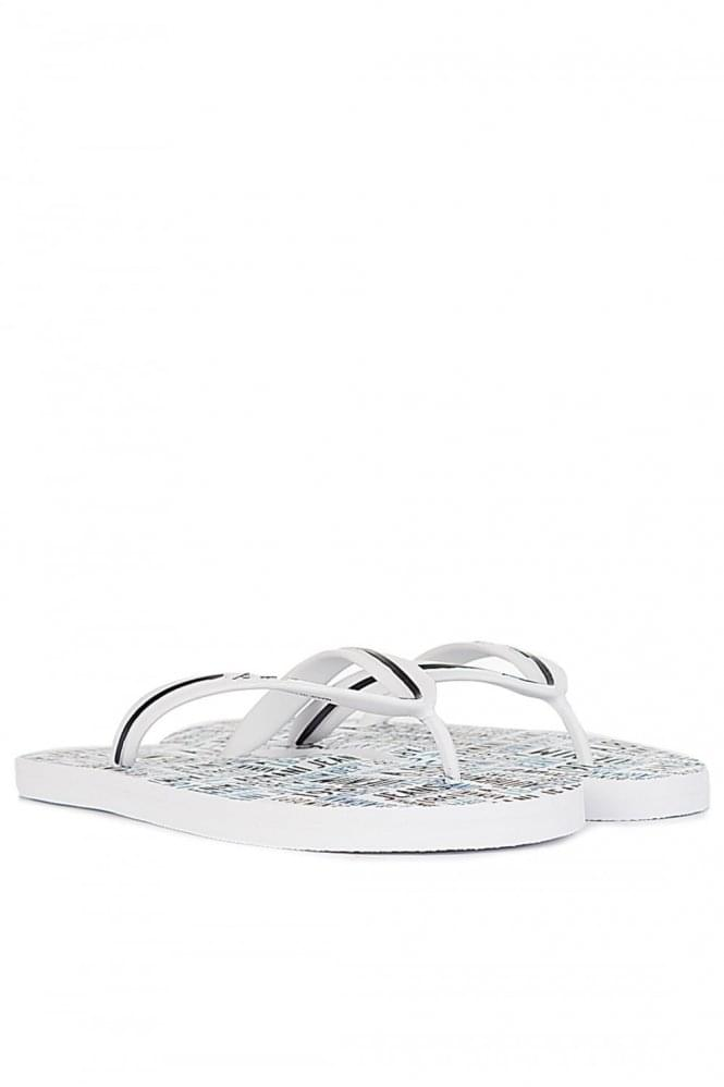 ARMANI Jeans All Over Logo Flip Flops