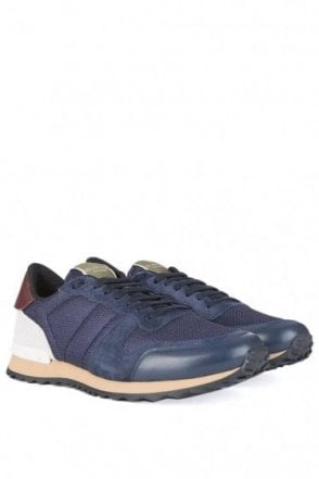 Valentino Runner Sneakers Navy