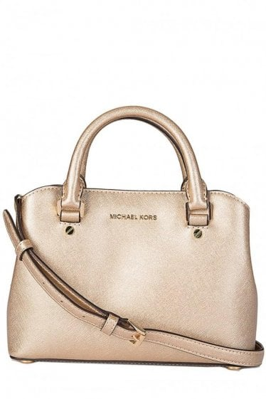 Michael Kors Savannah Satchel Gold